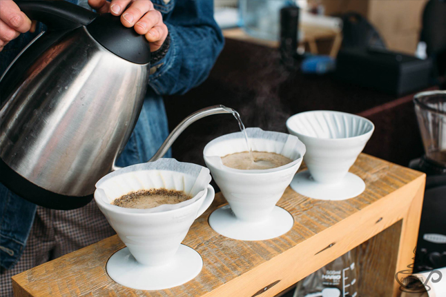 Pour over coffee tasting